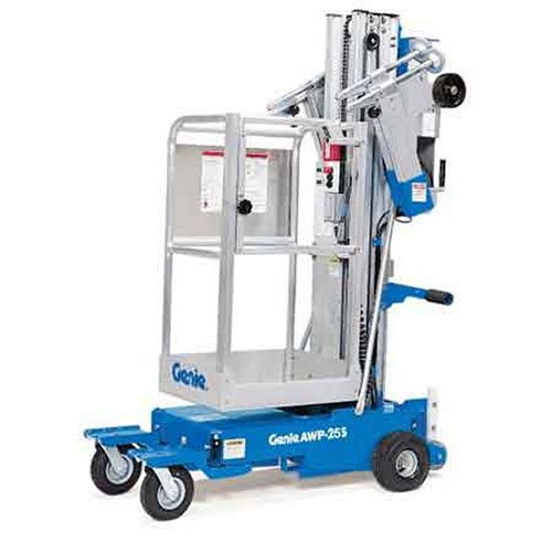 Genie AWP-25S personnel lift rental by US Aerials & Equipment Rental