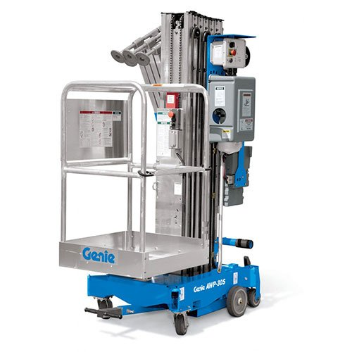 Genie AWP-30S personnel lift rental by US Aerials & Equipment Rental