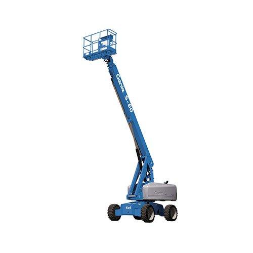 Genie S60 telescopic boom lift rental by US Aerials & Equipment Rental