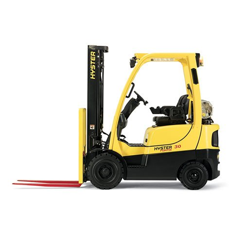 Hyster H40FTS Industrial forklift rental by US Aerials & Equipment Rental