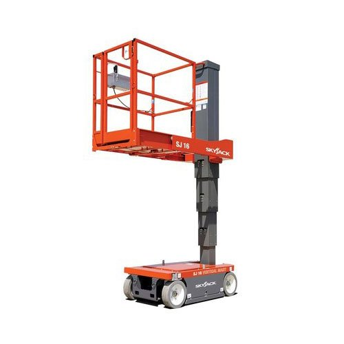 Skyjack SJ16 personnel lift rental by US Aerials & Equipment Rental