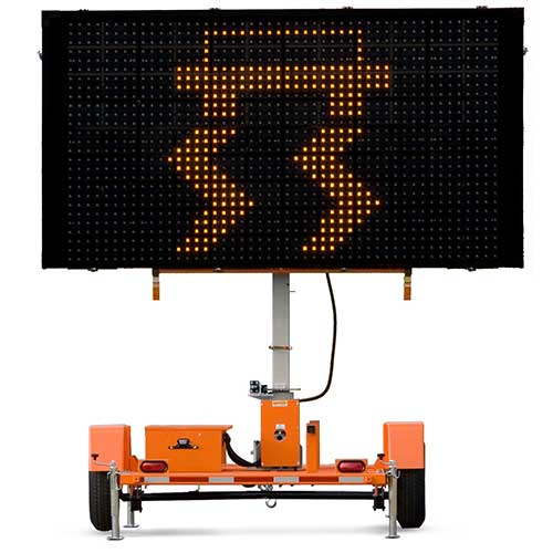 Wanco solar powered message board rental by US Aerials & Equipment Rental