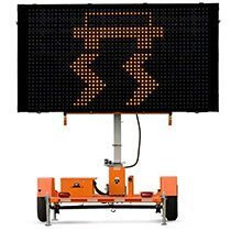 Traffic message board rental by US Aerials & Equipment Rental